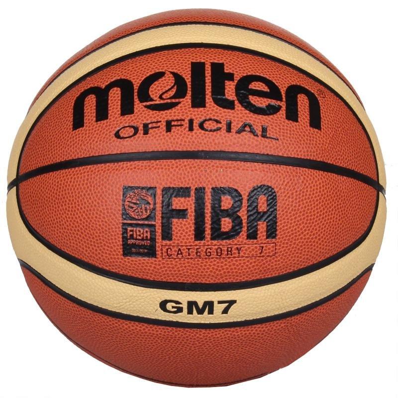 Hnědo-žlutý basketbalový míč BGM7, Molten - velikost 7