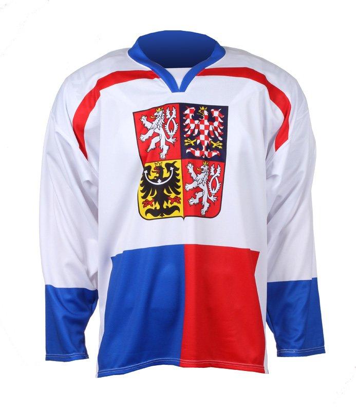 Bílý hokejový dres Replika ČR Nagano 1998, Merco