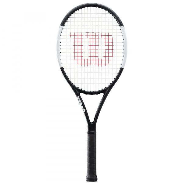Bílo-černá tenisová raketa Wilson