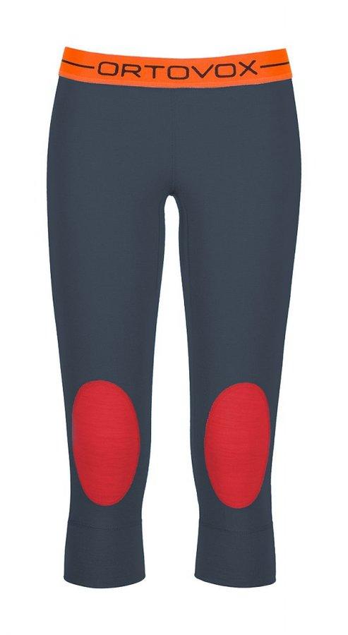 Modré 3/4 dámské termo kalhoty Ortovox - velikost S