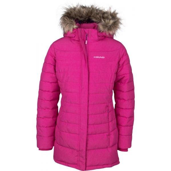 Růžový zimní dívčí kabát Head