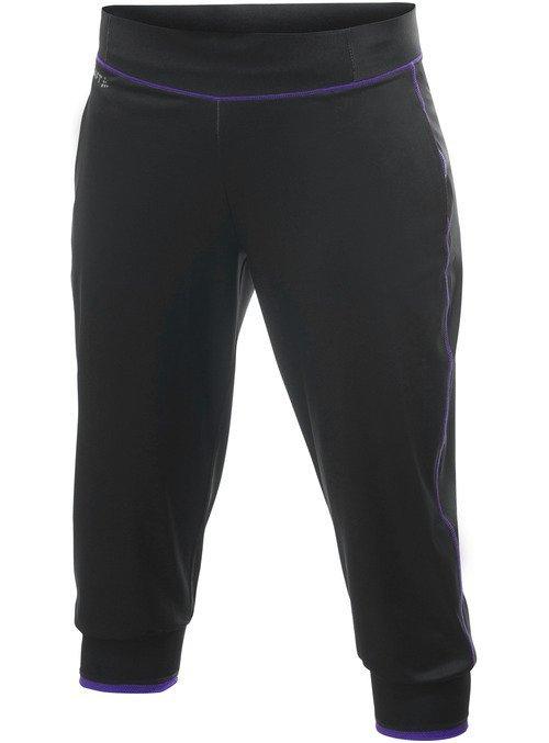 Černé dámské běžecké kalhoty Active Run Femme Capri, Craft - velikost XS