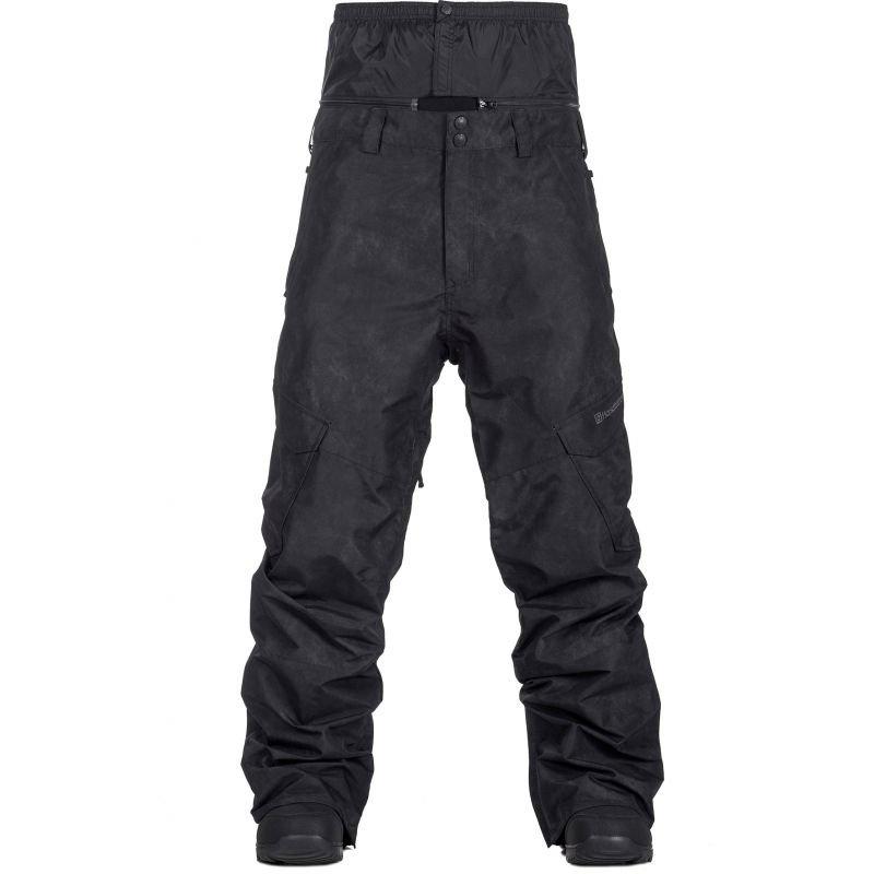 Černé pánské snowboardové kalhoty Horsefeathers