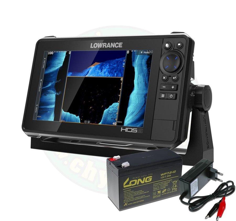 Echolot - Lowrance Echolot HDS LIVE 9 se sondou Active Imaging 3v1 + baterie + nabíječka ZDARMA