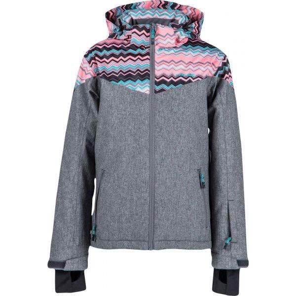 Šedá dívčí lyžařská bunda Head