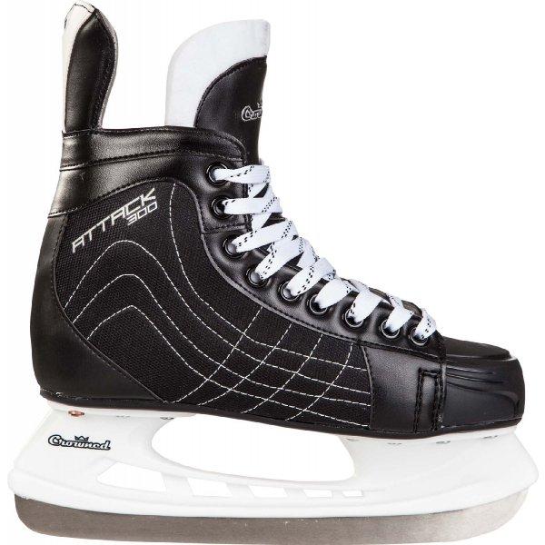 Černé pánské hokejové brusle Crowned