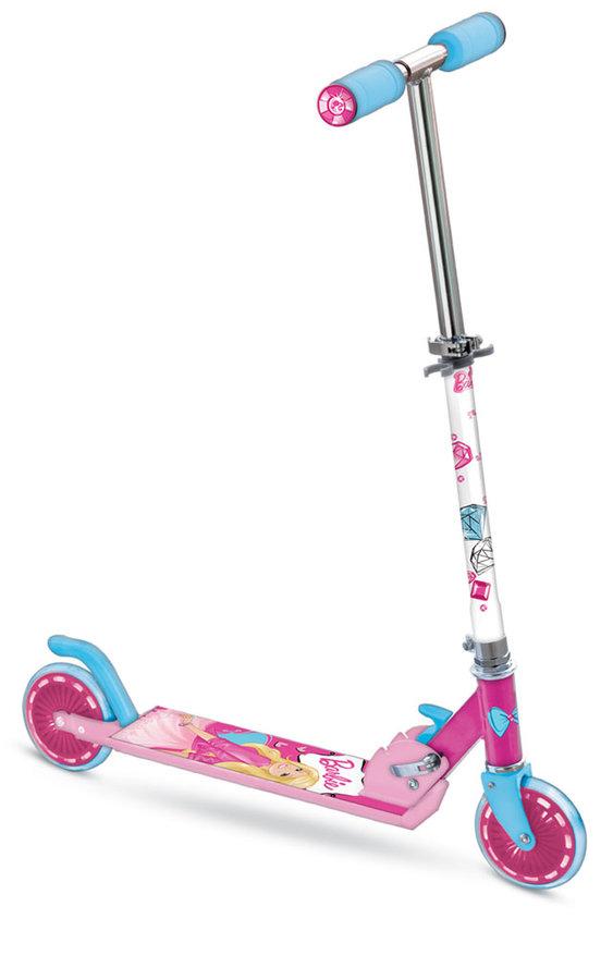 """Růžová dětská dívčí koloběžka """"Barbie"""", Mondo - nosnost 50 kg"""