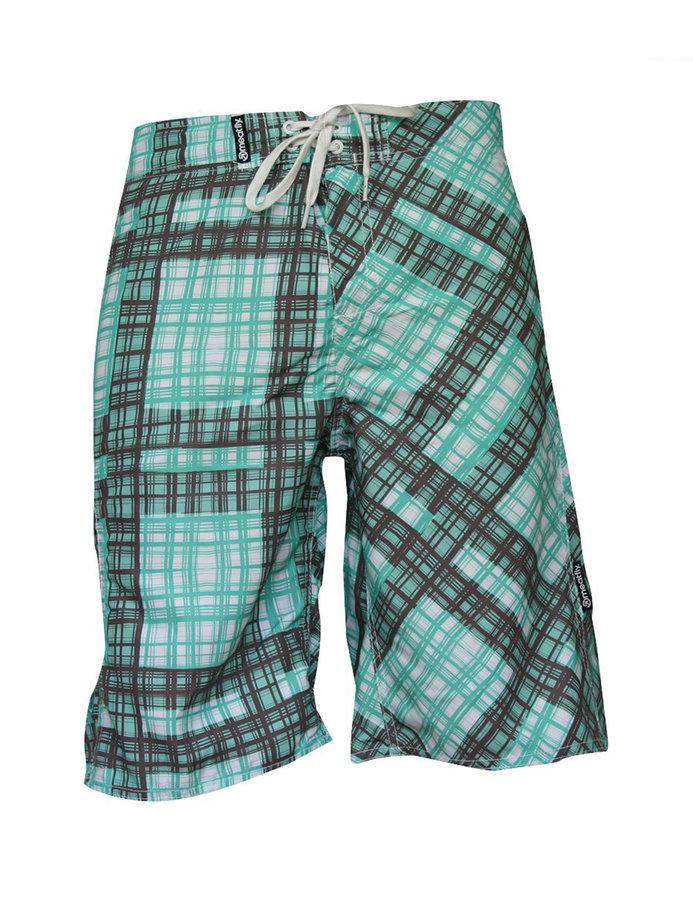 Hnědo-zelené dámské koupací kraťasy Swimshorts, Meatfly - velikost S