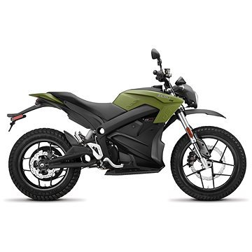 Zelená elektrická motorka Zero