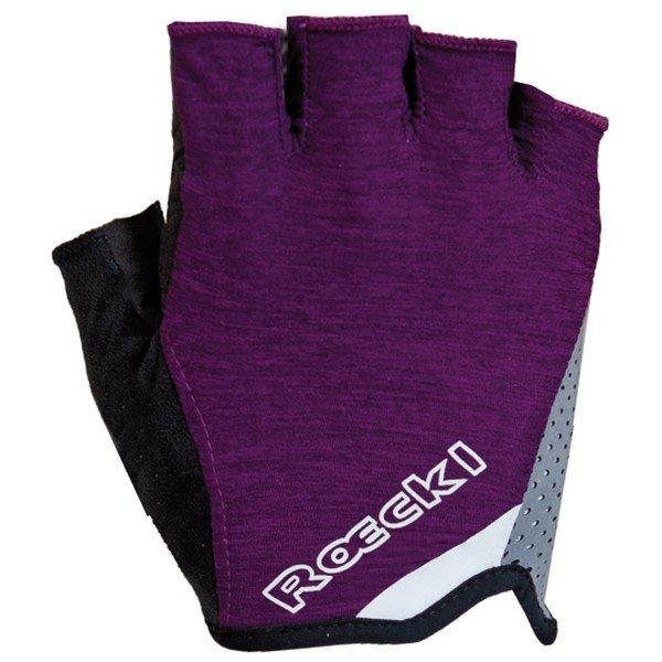 Fialové dámské cyklistické rukavice Roeckl