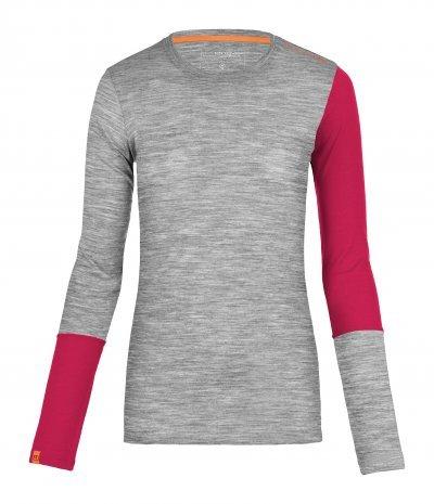 Šedé dámské termo tričko s dlouhým rukávem Ortovox - velikost XL