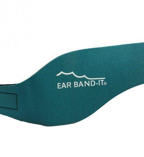 Tyrkysová neoprénová koupací čelenka Ultra, Ear Band-It® - velikost S