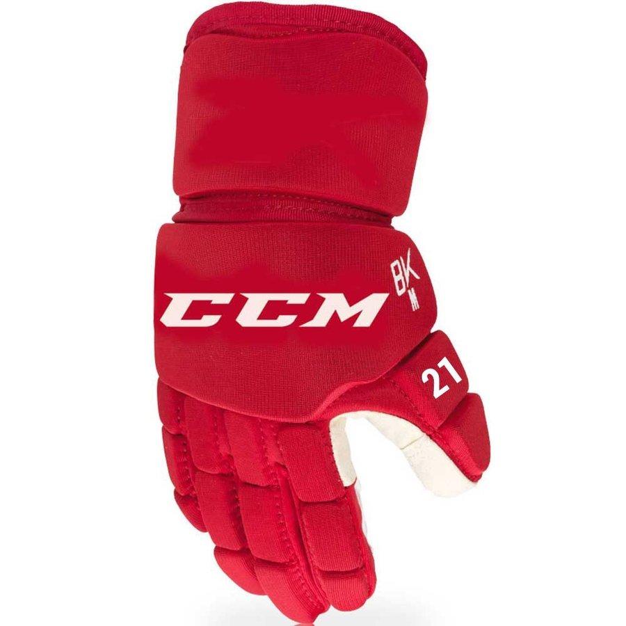 Červené hokejbalové rukavice CCM