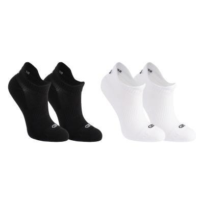 Černé nebo bílé kotníkové ponožky Kalenji - 2 ks