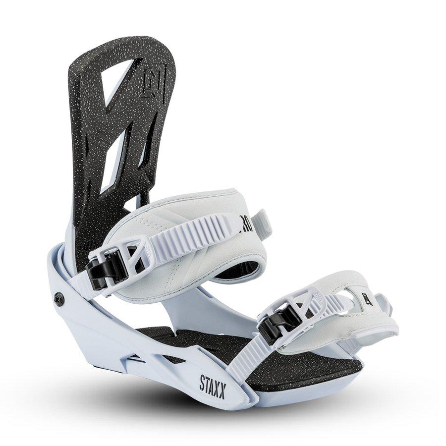 Bílé vázání na snowboard Nitro - velikost L