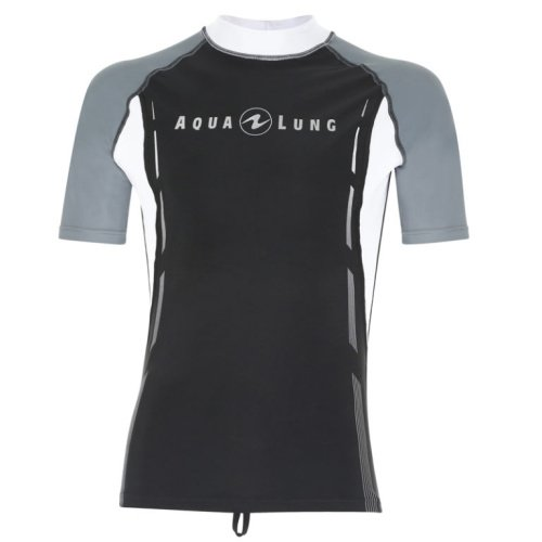 Černo-šedé pánské lycrové tričko Rashguard Short Sleeve, Rashguard