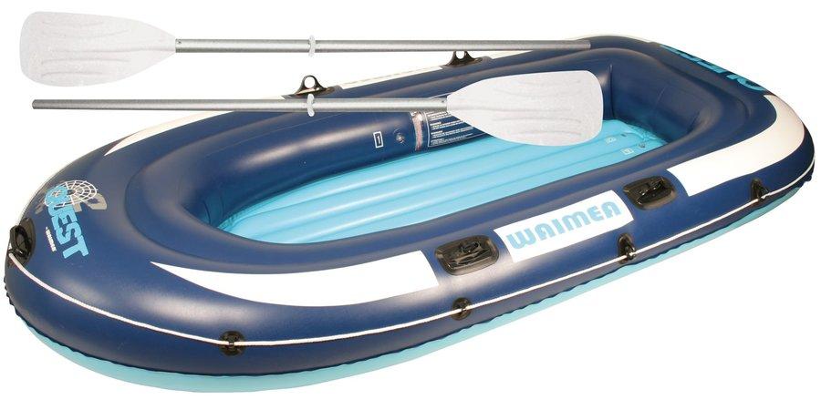 Modrý nafukovací člun s nafukovacím dnem pro 2 osoby Quest, Waimea