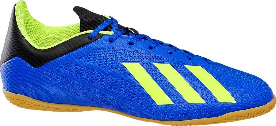 Modro-zelené kopačky - sálovky X Tango 18.4 IN, Adidas - velikost 42 2/3 EU
