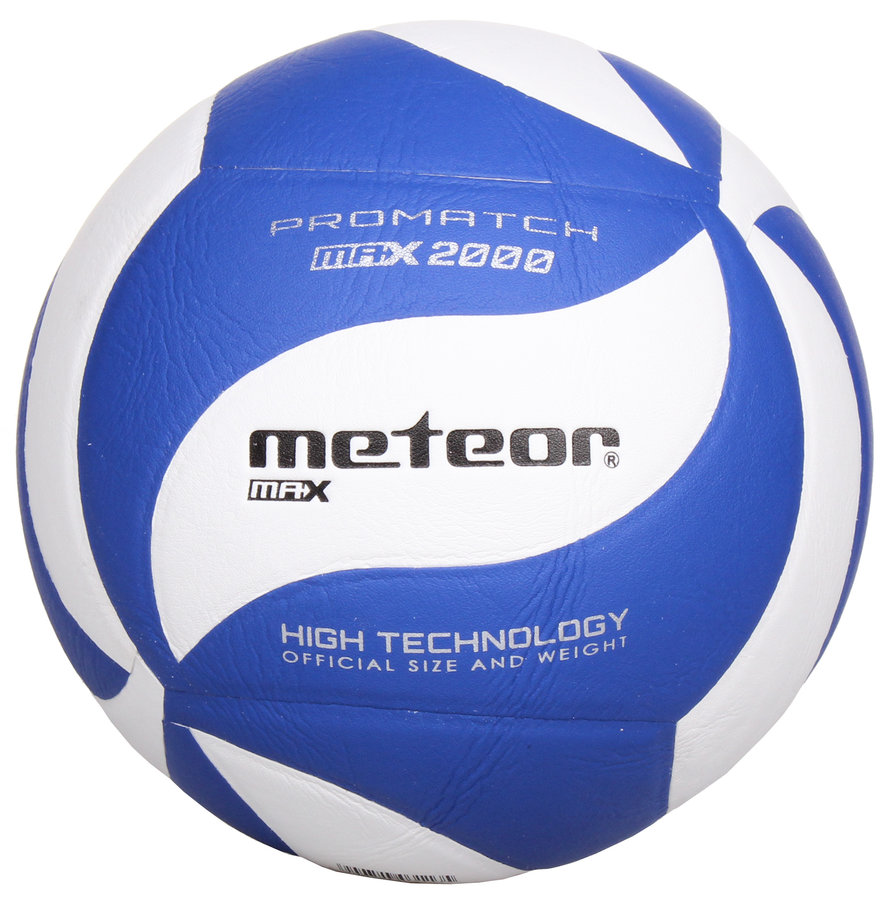 Bílo-modrý volejbalový míč Max 2000, Meteor - velikost 5