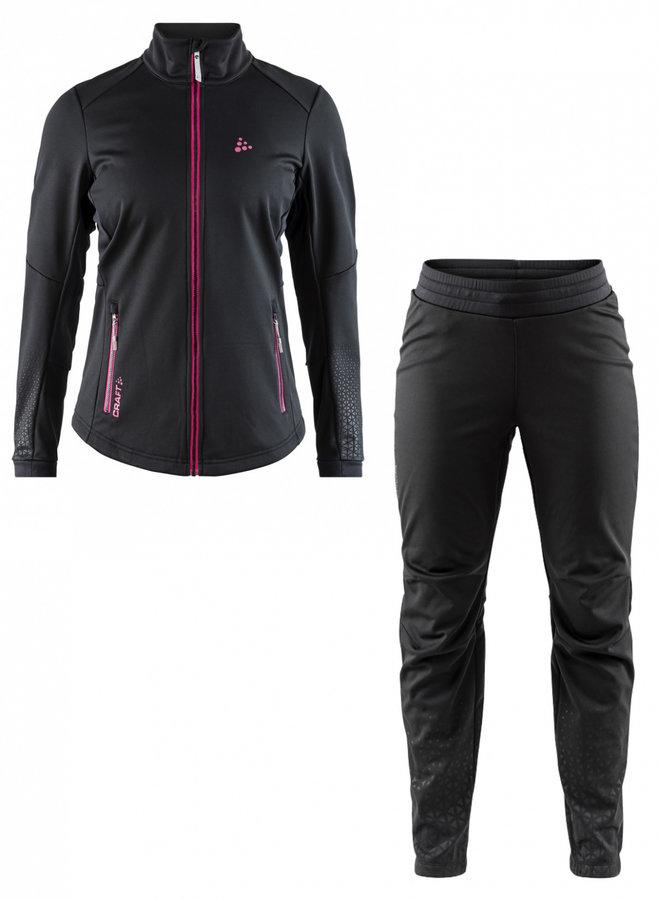 Černé dámské běžecké kalhoty Warm Train, Craft - velikost M