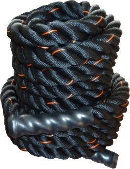 Černé posilovací lano Power System - délka 12 m