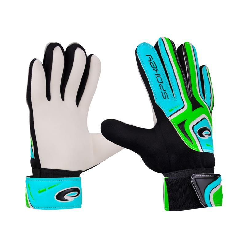 Černo-modré brankářské fotbalové rukavice Catch II, Spokey - velikost 6