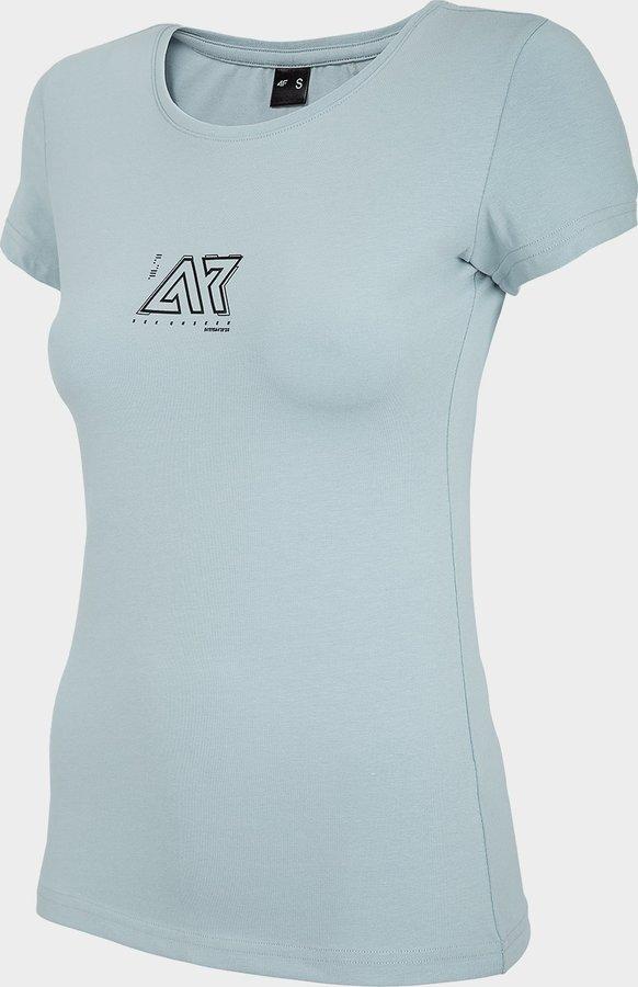 Modré dámské tričko s krátkým rukávem 4F