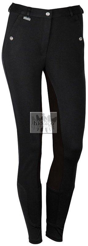 Černo-šedé rajtky s celokoženým sedem Harry's Horse - velikost 38