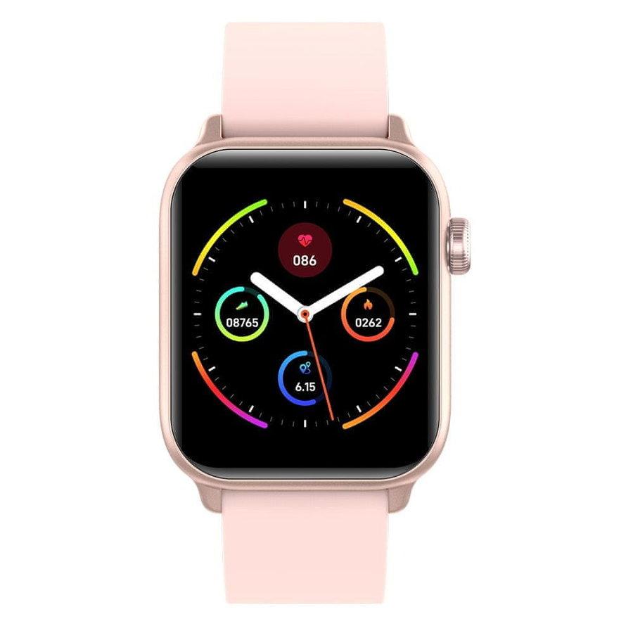 Růžové analogové chytré hodinky Squarz, Smartomat