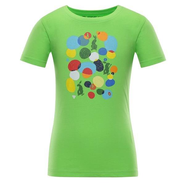 Zelené dětské tričko s krátkým rukávem Alpine Pro - velikost 140-146