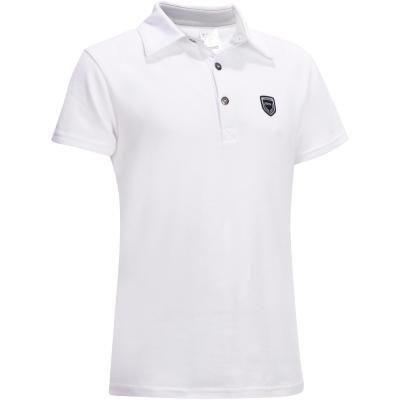 Bílé dětské jezdecké tričko Fouganza