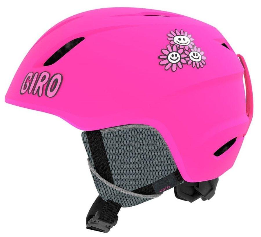 Růžová dívčí lyžařská helma Giro - velikost XS