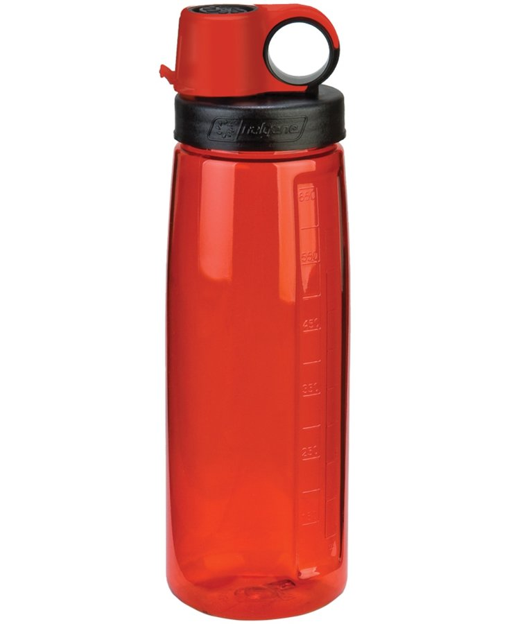 Červená láhev na pití OTG, Nalgene - objem 0,65 l