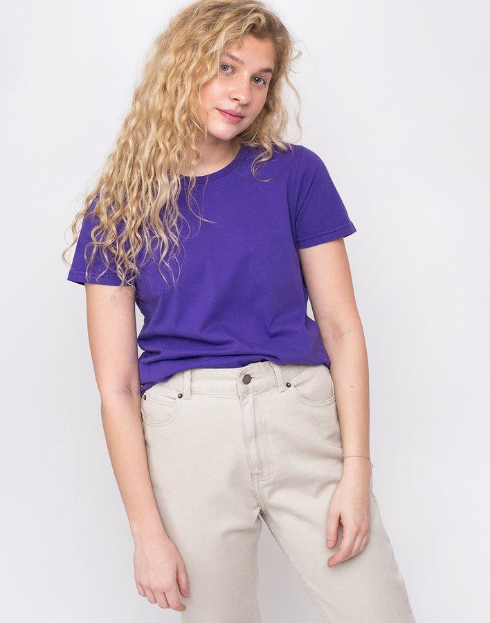 Fialové dámské tričko s krátkým rukávem Colorful Standard