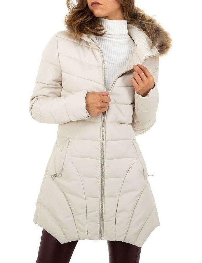 Béžová zimní dámská bunda