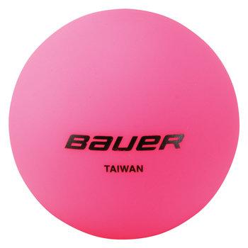 Růžový hokejbalový míček Bauer