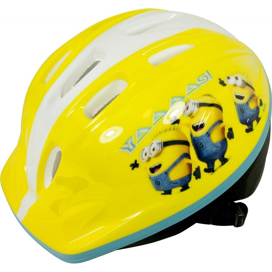"Žlutá dětská cyklistická helma Yaaaas!, ""Mimoni"" - velikost 48-52 cm"