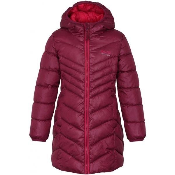 Červený dívčí kabát Loap