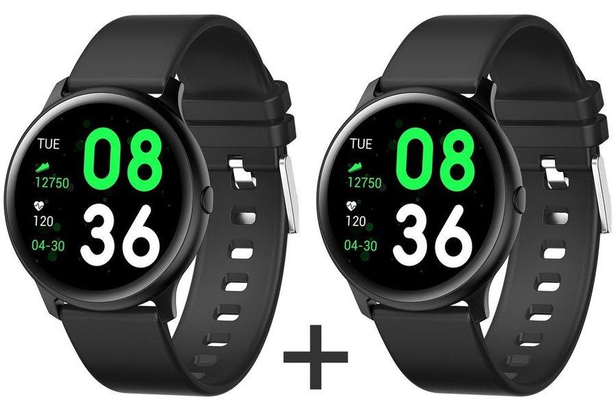 Černé digitální chytré hodinky Roundband 2, Smartomat