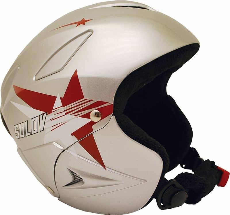 Stříbrná dětská lyžařská helma Sulov