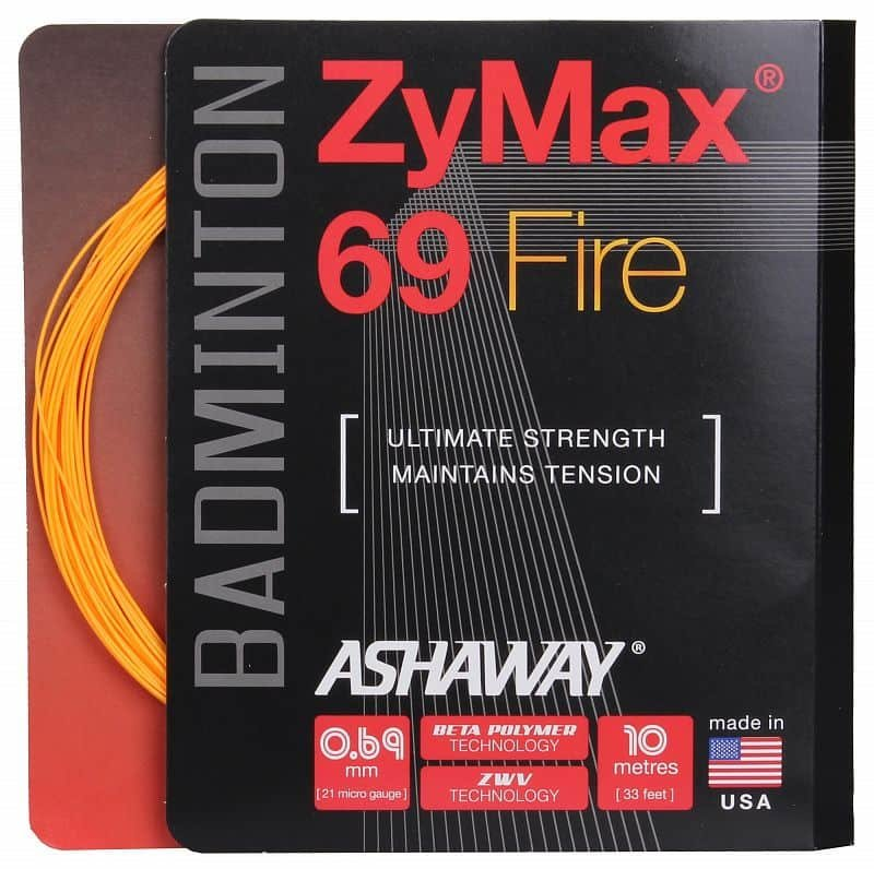 Badmintonový výplet ZyMax 69 Fire, Ashaway