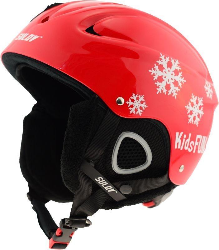 Červená dětská lyžařská helma Sulov - velikost 53-56 cm