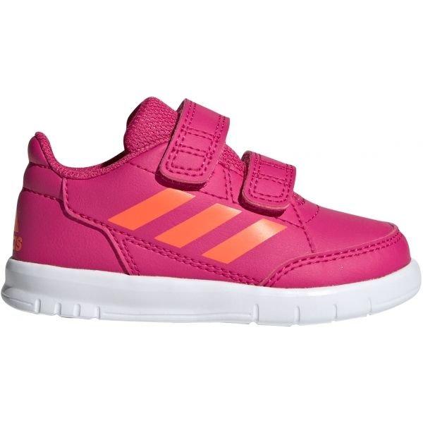 Růžové dívčí tenisky Adidas - velikost 20 EU