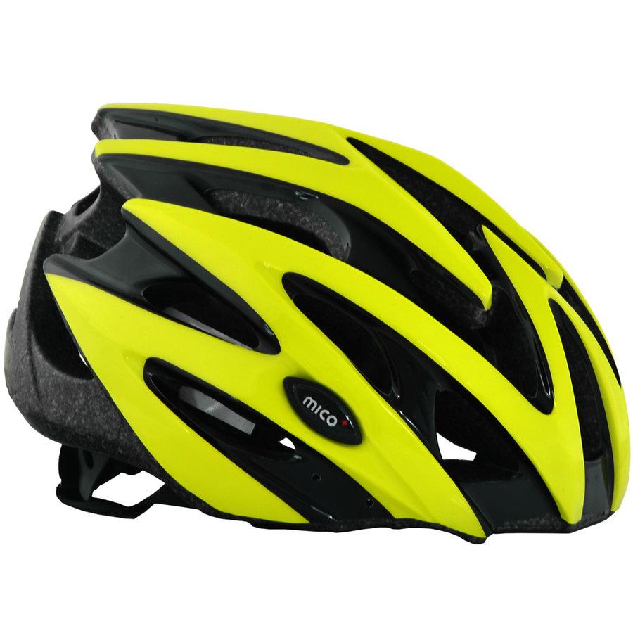 Černo-žlutá cyklistická helma Mico - velikost 58-61 cm