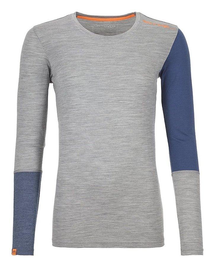 Modro-šedé dámské termo tričko s dlouhým rukávem Ortovox