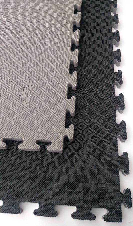 Tatami - Tatami Taekwondo WTF oboustranné 100 x 100 x 2,5 cm šedo/černá