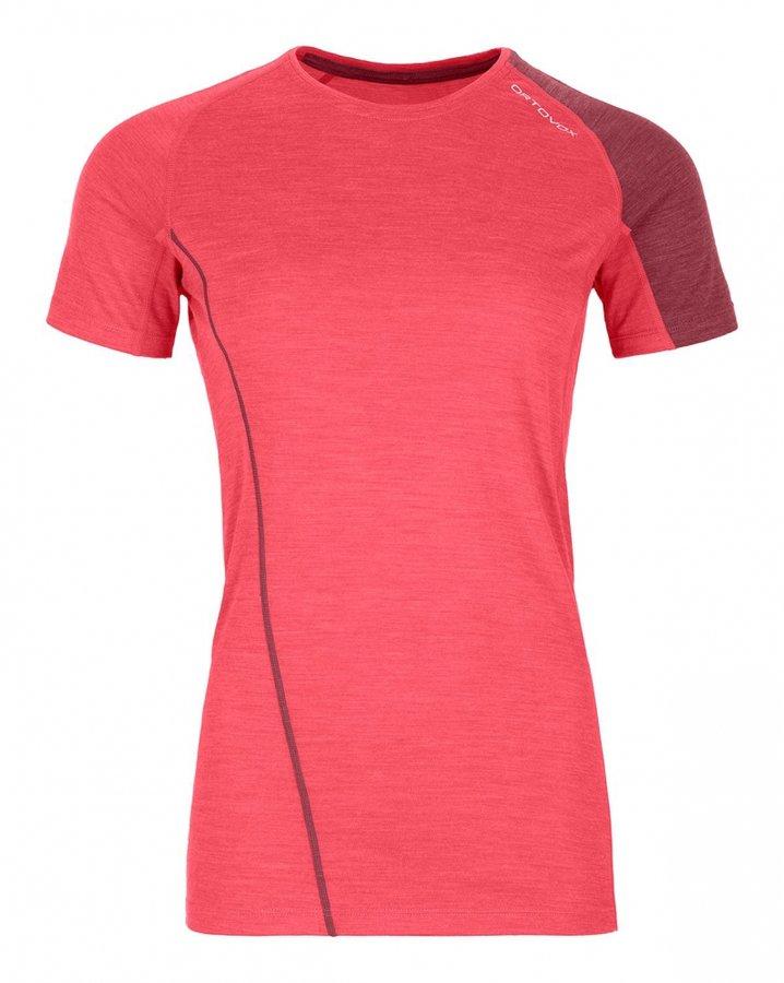 Růžové dámské termo tričko s krátkým rukávem Ortovox