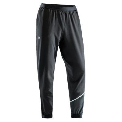 Černé pánské běžecké kalhoty RUN DRY, Kalenji