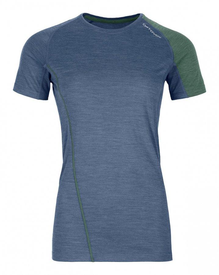Modro-zelené dámské termo tričko s krátkým rukávem Ortovox