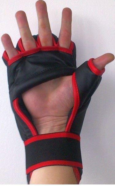 Černá karate rukavice Effea - velikost L